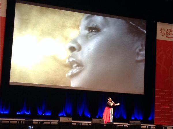 Yvonne Chaka Chaka takes the stage at #AIDS2014 closing ceremony http://t.co/PavZXI8YJI