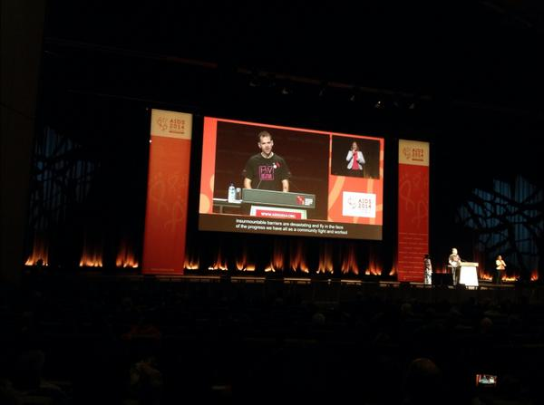 John Manwaring @livingposvic at #AIDS2014 closing. Right here in this room is the power to change the world. http://t.co/DtDDxqSIt2