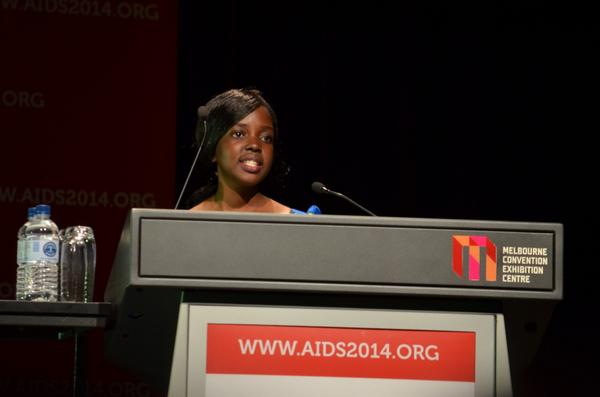 Violet Banda looks forward to a time when ARV clinics are turned into schools in a post-#AIDS world. #AIDS2014 http://t.co/0Oo3c7qSV5