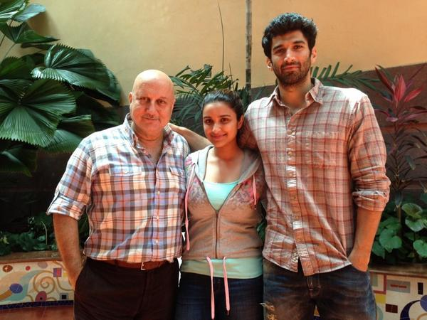 """""""@AnupamPkher Finished dubbing for @DaawatEIshq. It certainly is one of the BEST films of the year #Parineet #Aditya http://t.co/sEzjaSjpUa"""""""