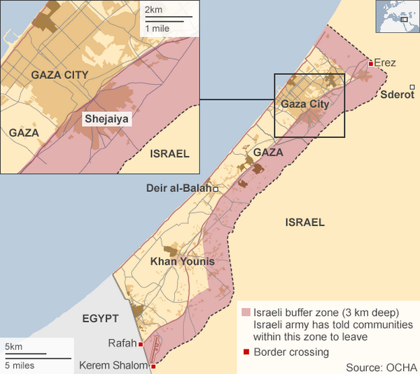 Israel Takes Away 44% of Gaza Land … Herds Gazans Into Remaining Area BtYWOZlCAAA1s98