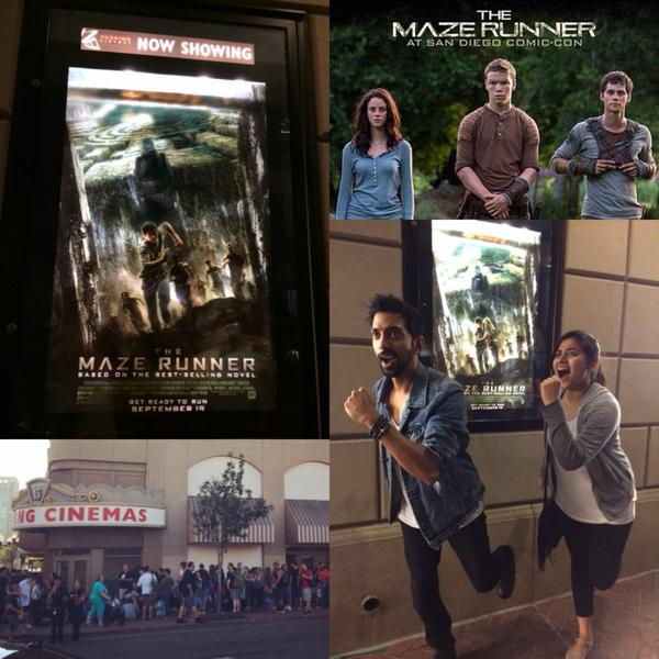 Just watched @MazeRunnerMovie at ComicCon! Blown away! @wesball you are a genius! @jamesdashner #MazeRunnerSDCC http://t.co/JiLPQZEHNn