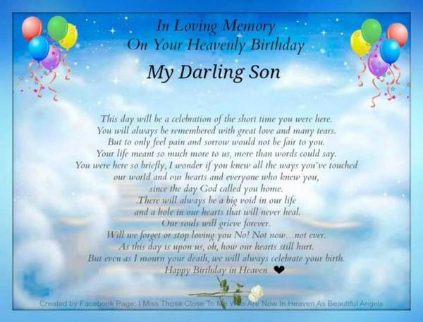 93 Son In Heaven Quotes Found On Facebook Com Stuff To Buy When