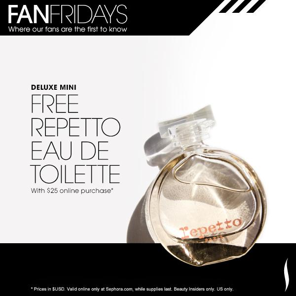 Today! Get a @Repetto_Paris deluxe mini fragrance free w/ any $25+ online purchase. #FanFriday http://t.co/RHiZTY1yFe http://t.co/GjuXszEcFB