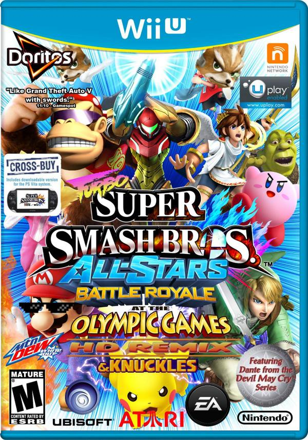 WHOA! Updated Super Smash Bros. for Wii U cover leaked!!!! http://t.co/Fqpyx1cszR