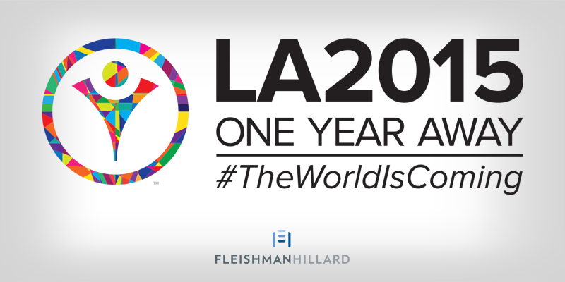 Proud to be a partner: We're one year away from the start of @LosAngeles2015 #TheWorldIsComing http://t.co/gBirXR2nAm http://t.co/OLvxpAaLkJ