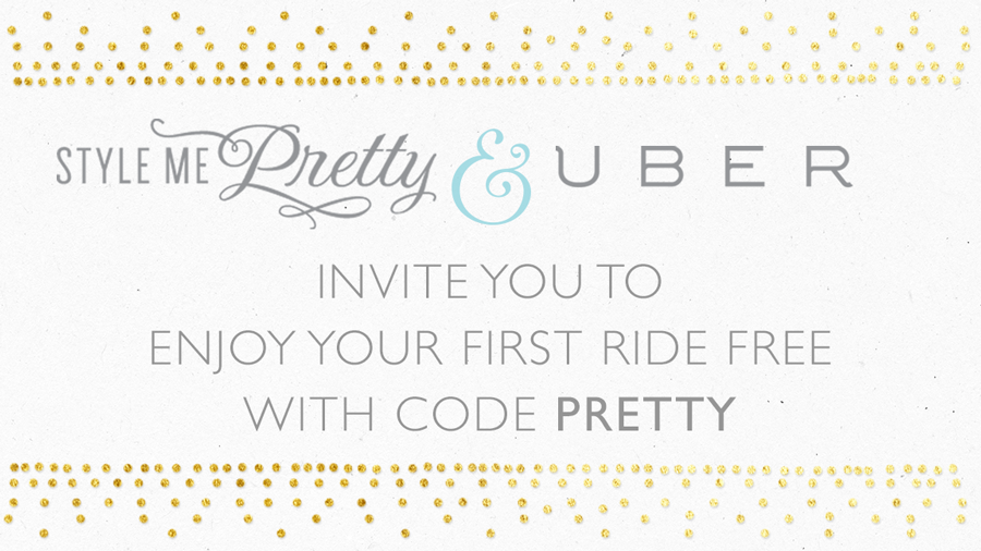 .@StyleMePretty & @Uber are partnering up for the ultimate #wedding gift: http://t.co/3MqBzm3iZg #SMPUber http://t.co/J3B9RlK321