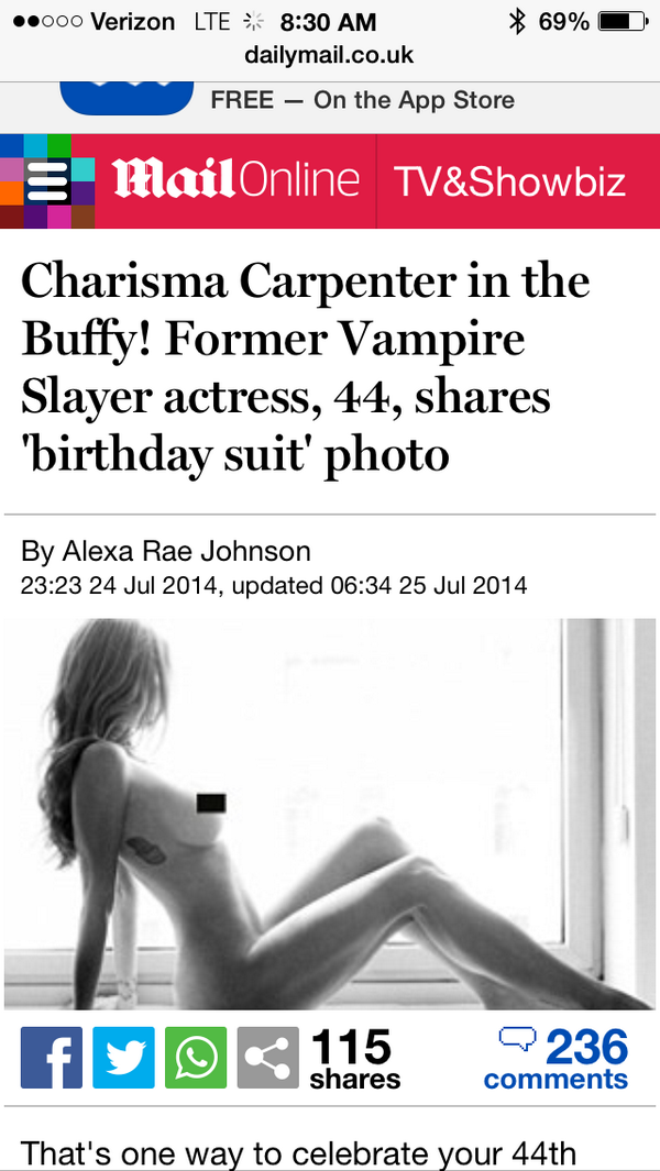 carpenter nude birthday Charisma
