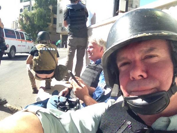 And a plumber RT @MartinSavidge: Stuck in cross fire in West Bank as tensions rise. Don't worry I'm with Ben Wedemen. http://t.co/cGUYb6cslP