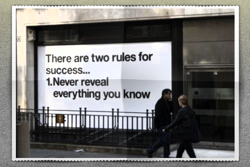 Twitter / PitchswagLtd: Two Rules For Success: ...