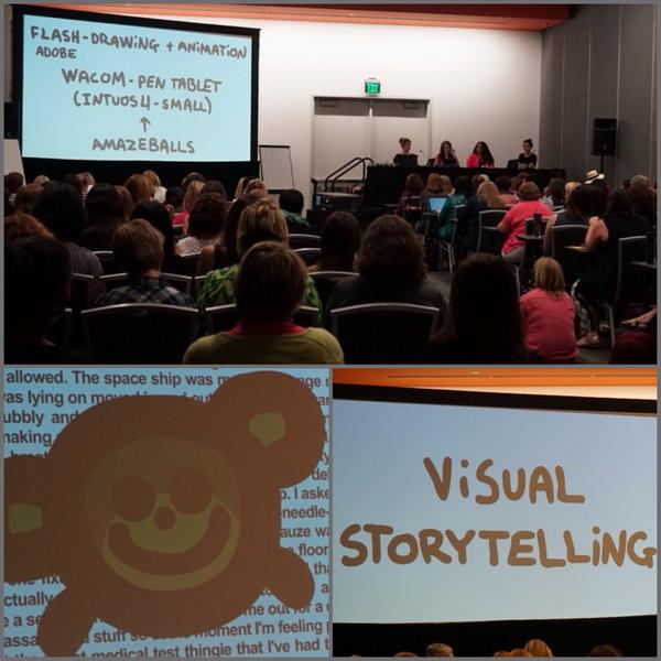 """@jenleereeves: We're learning visual storytelling from @AnimatedWoman at #BlogHer14 http://t.co/MZGQy8VO3G"" Find me. I want to hug you."