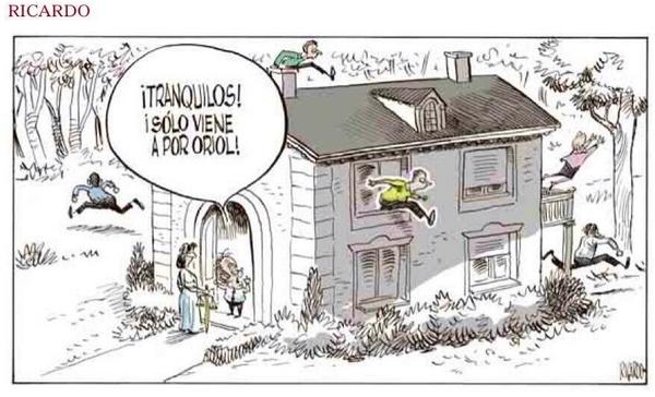 Jordi Pujol. Recupero entrañable #viñeta Ricardo, @elmundoes (en su día, tildado de difamador). Toc, toc… la Justicia http://t.co/c4oP52vBfe