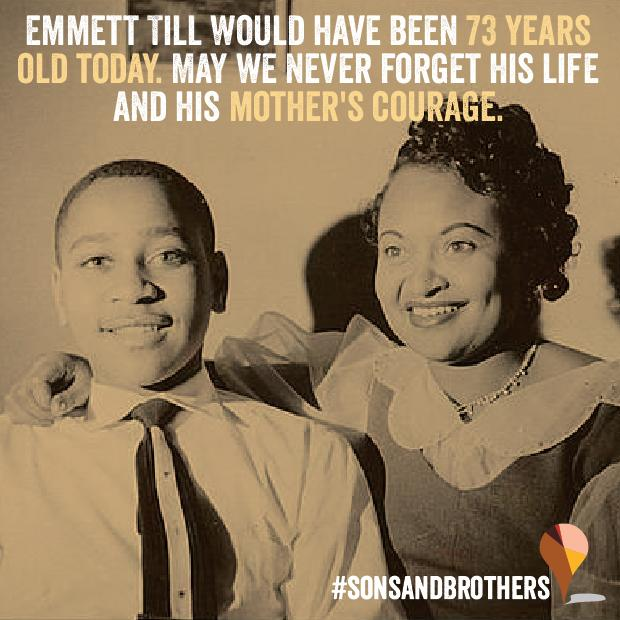 RT @sonsandbros: Emmett Till would have been 73 years old today. Let's never forget the powerful legacy our #SonsAndBrothers have left http…