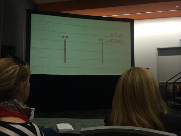 It's possible to tell a whole story with lines and dots - @AnimatedWoman #BlogHer14 http://t.co/wRrbxh6xWr