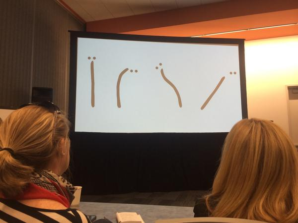 Great shots of my process! RT @allisonrhone: Example of a single line telling a story - @AnimatedWoman #BlogHer14 http://t.co/XHIjKzaTH0
