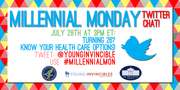 #BornIn88 – Join the conversation on Mon – 7/28 @ 3PM using #MillennialMon. Learn about your options to #GetCovered! http://t.co/AAHPCN5D0Y