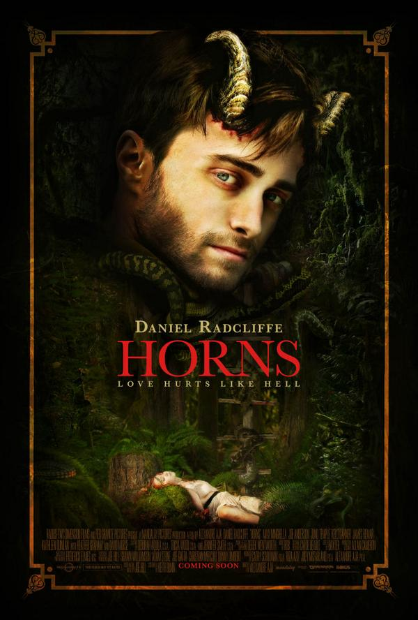 "Just in time for Daniel Radcliffe's Comic Con debut: the official poster for his upcoming film, ""Horns."" #SDCC http://t.co/YBluv9fB5Z"