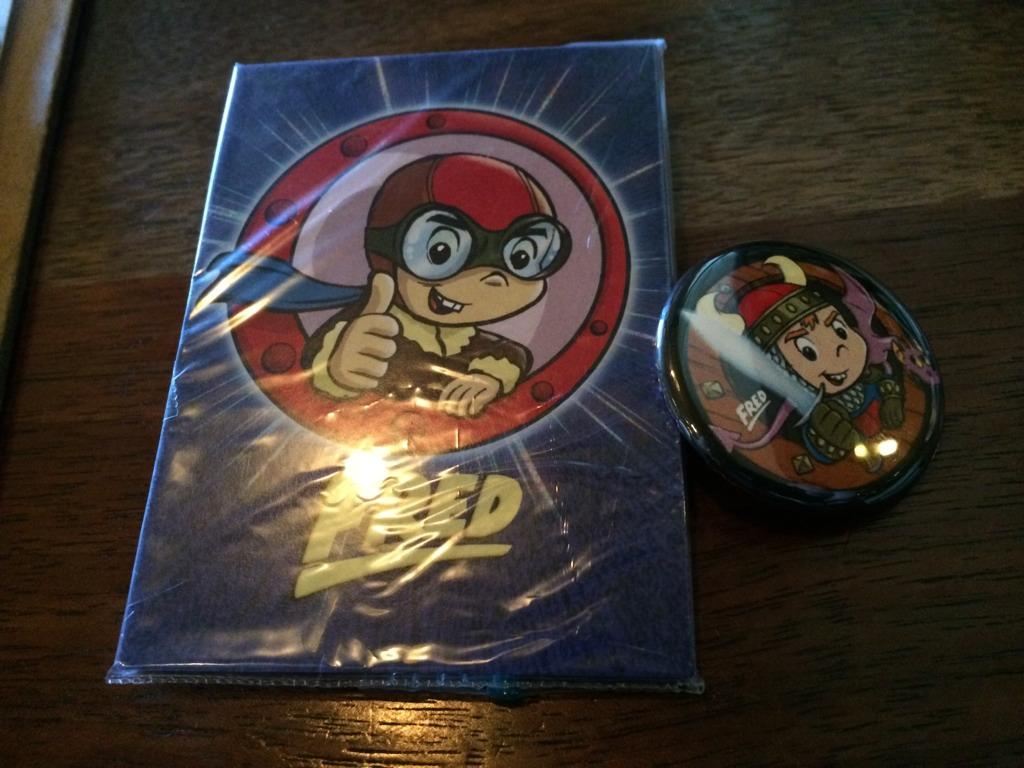 RT @KenPlume: More FRED trading cards and buttons to give away if you find me... http://t.co/k1BHOadTVR
