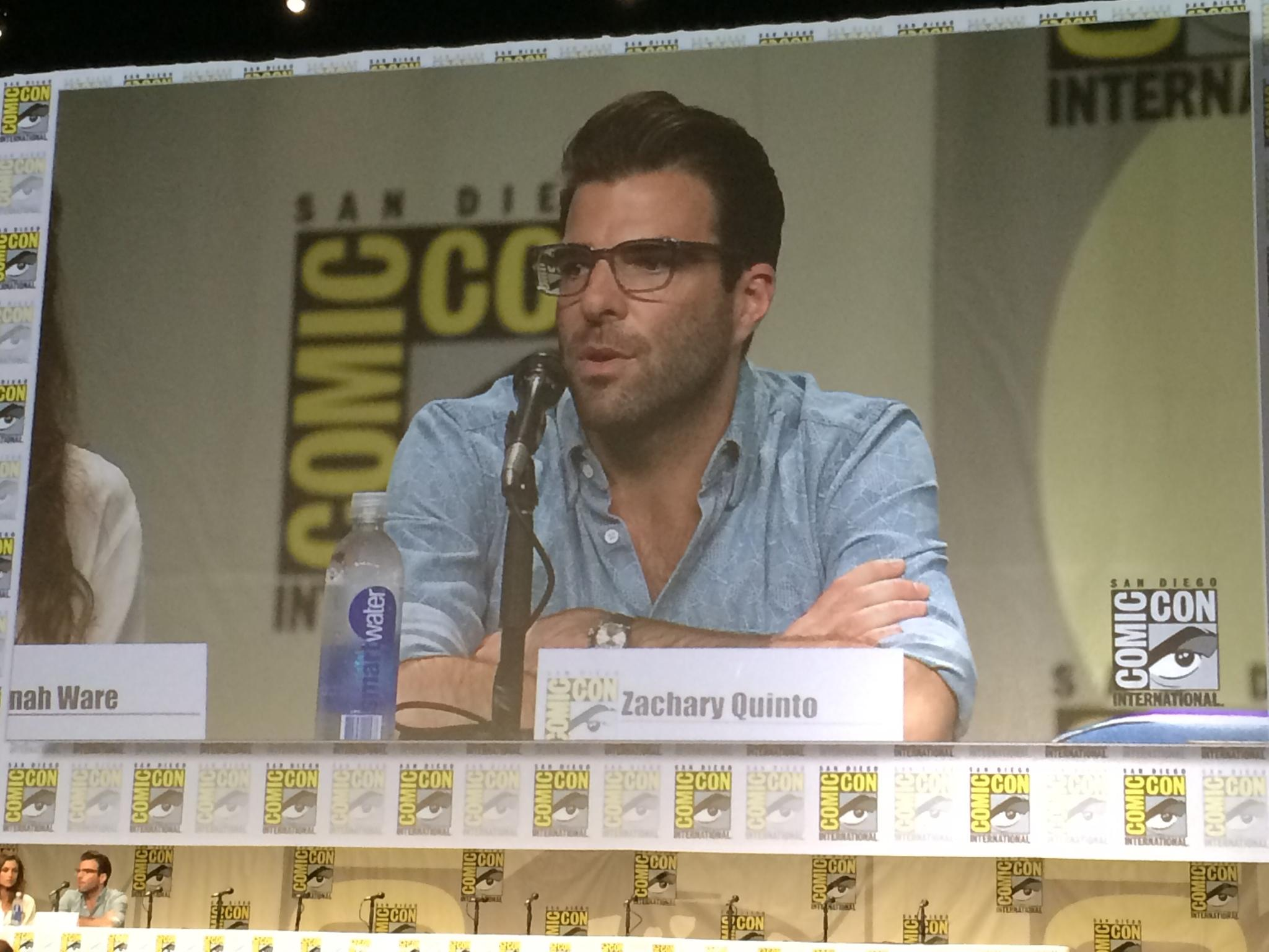 Twitter / Latinoreview: Zachary Quinto in Hall H for ...