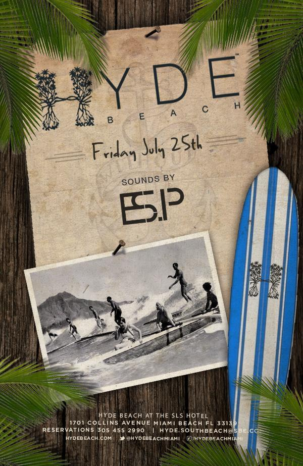 Twitter / DavidHydeBeach: DJ ESP on the decks tonight ...