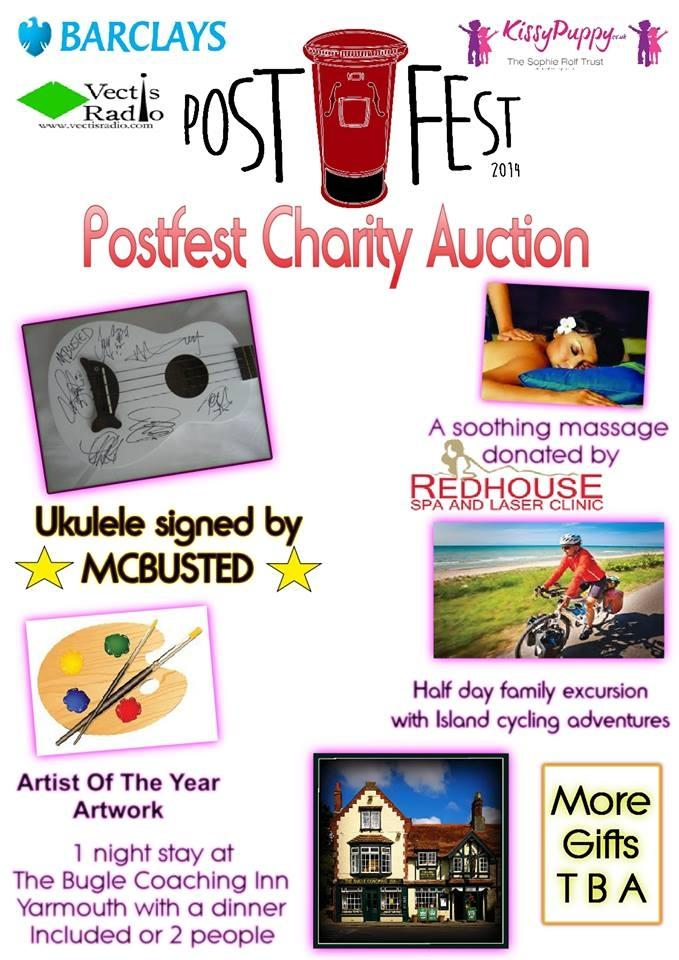 RT @PostFest: What's this? A charity auction item? Oh my! It's ukulele signed by @mcbusted! Bring your pennies and bid bid bid! http://t.co…