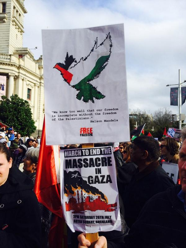 Humanity is not free until ALL of humanity is free. Great to see Jewish community here against #gaza war #NZ4Gaza http://t.co/R6egz9QemY