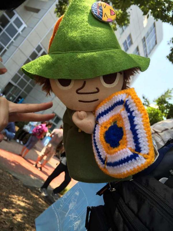 """うすださん編みぐるみの人に、最新作イカロス編みぐるみを貰いました〜ヾ(๑╹◡╹)ノ"""""""
