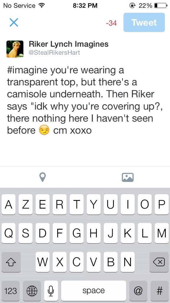 Riker Lynch Imagines on Twitter quot Hehe imagine this t co
