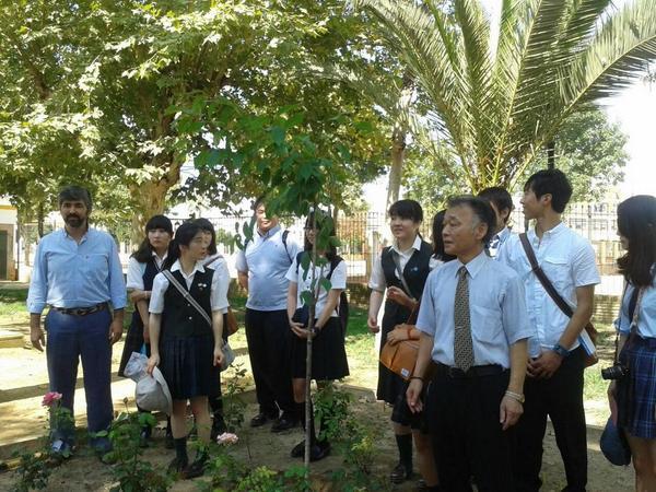 Una nueva expedición de estudiantes japoneses visita Coria,encabezada por Hasekura Tsunetaka. http://t.co/oWDdwhd3Kv