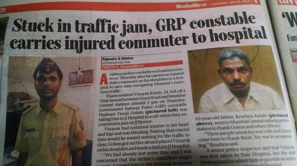 Mumbai ka asli hero GRP Constable Prashant Tanaji Golem @PMOIndia @narendramodi http://t.co/mdMh88HgoZ