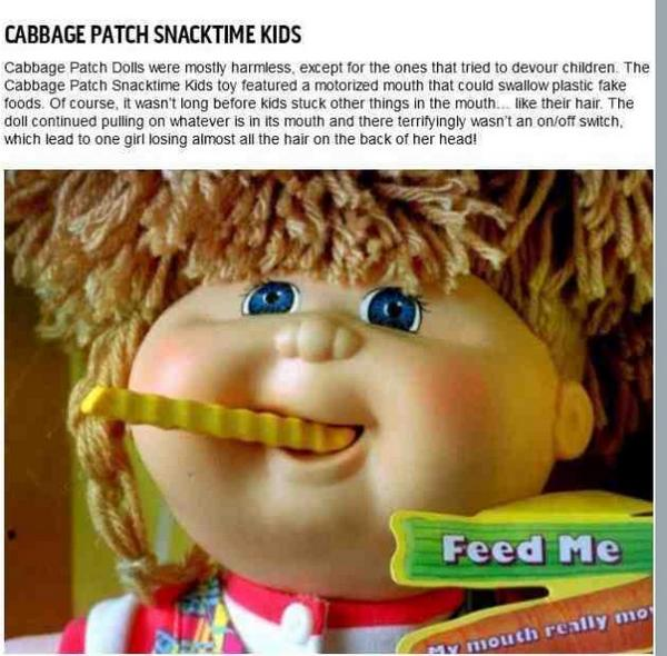 Scary😱 tooth fairy snacktime cabbage patch kid's doll spoof.