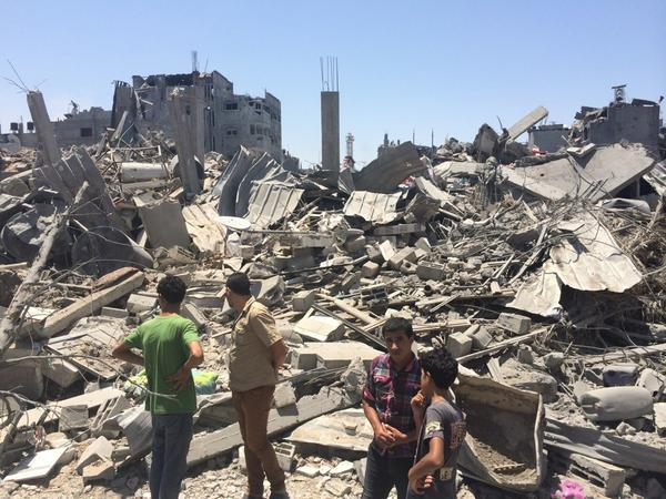 Massive destruction also in #shiyyaia #gaza http://t.co/k1joB1cqUj