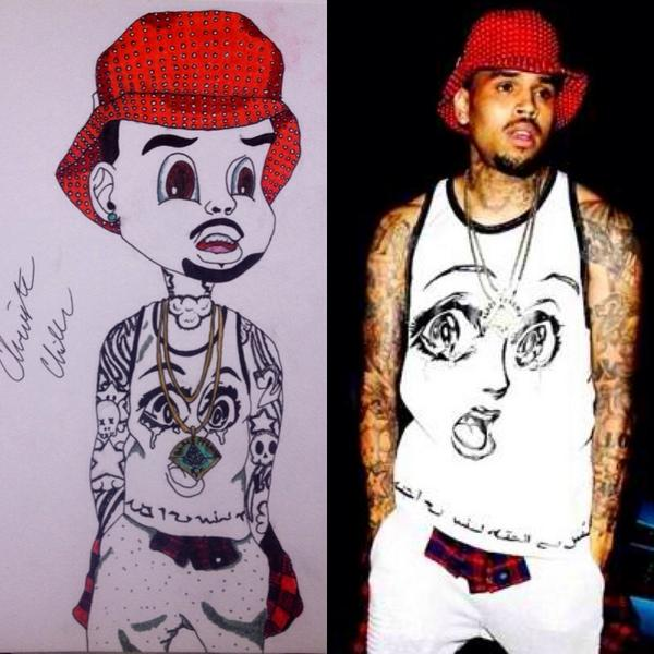 theyoncé on twitter freehand chris my cartoon chris brown