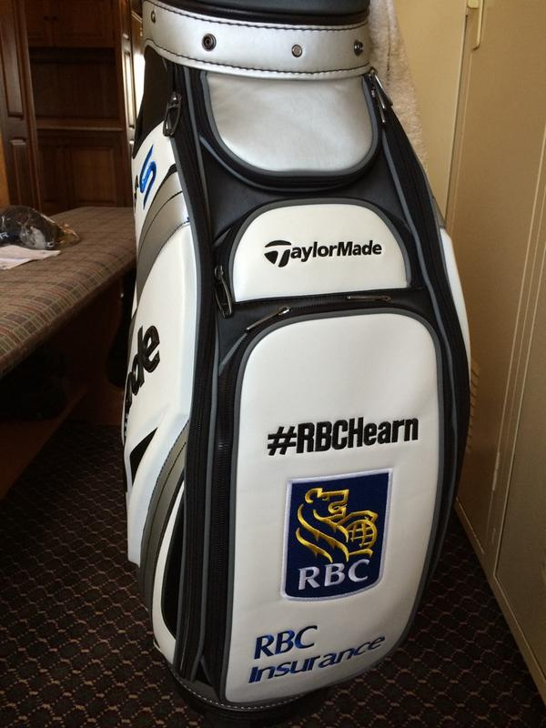 Last giveaway for #RBCGolf4Kids! Pls RT for a chance to win my signed bag I am using this week at #RBCCO! #RBCHearn http://t.co/HsnjXsoNzy
