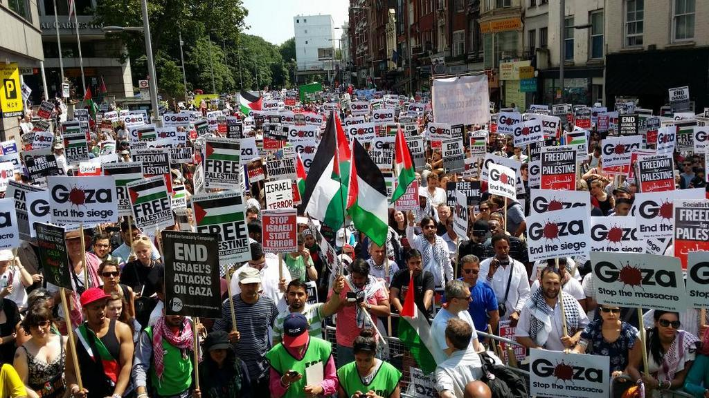 Gaza protests London 26/07/14