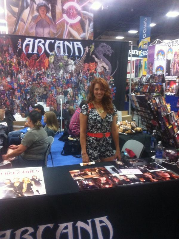 @AlainaHuffman is signing!! #booth2415 #ArcanaBooth #SDCC2014 #SDCC @comic_con #Supernatural #Smallville #SDCC #SGU http://t.co/MOQj8BmnDb