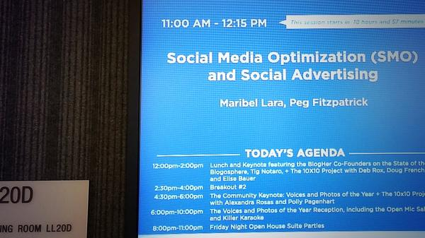 One hour until my #BlogHer14 #Blog session with @PegFitzpatrick. Will we see you there? #smo #SocialMediaMarketing http://t.co/VDaA1Wspzk
