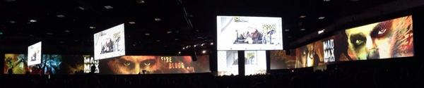 A glimpse of #sdcc @HallH's expanded panoramic screens http://t.co/LQljTbp50J