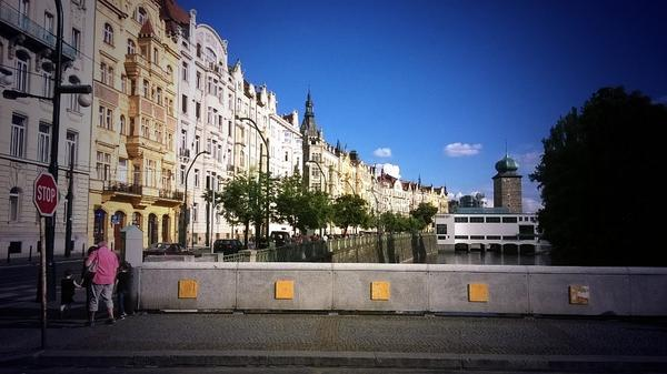 #Prague river embankment with #M