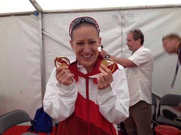 What a delight to talk to @jodiestimpson after she won her second gold medal. Hope you'll come see us at the Mailbox http://t.co/oukPQ5NgzD