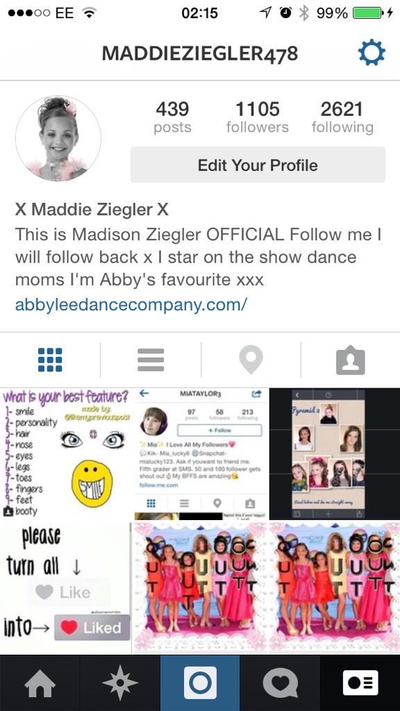 Maddie Ziegler Instagram Name