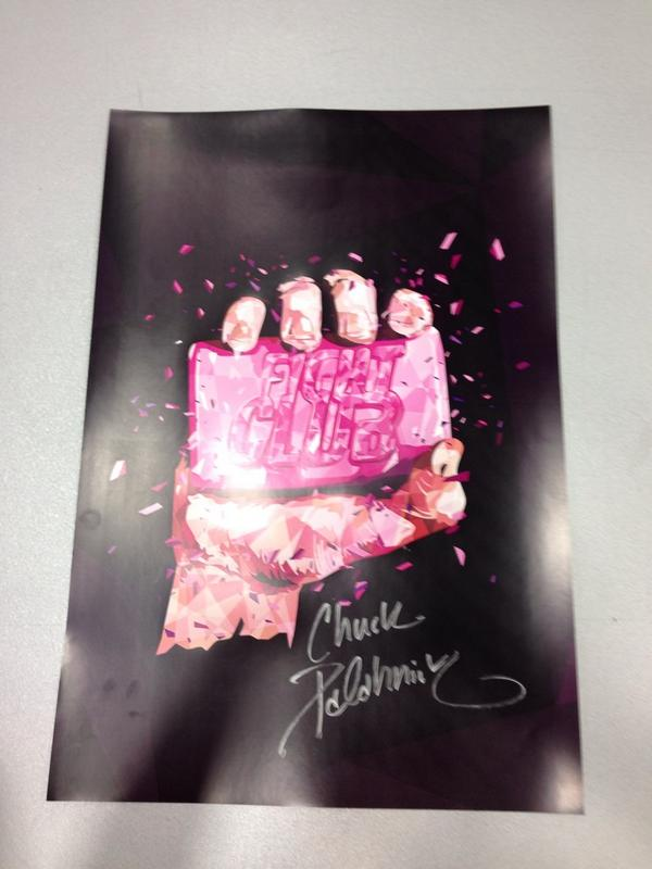 Retweet if you love this limited edition print signed by @chuckpalahniuk. http://t.co/RAWffFpKya
