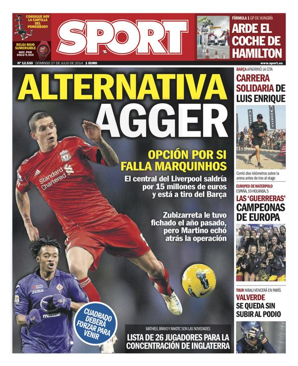 Barcelona plot €15m bid for Liverpool defender Daniel Agger [SPORT]