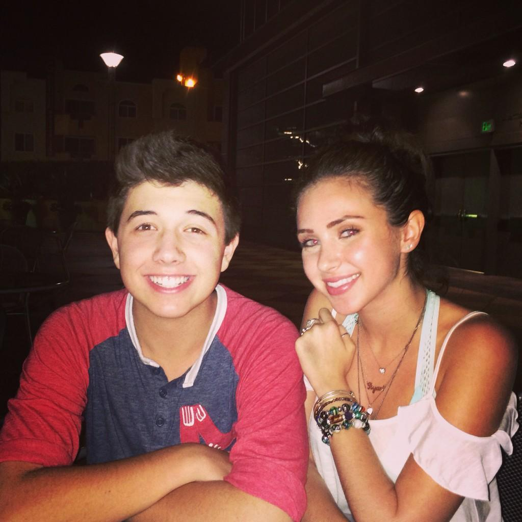 bradley steven perry and ryan newmanBradley Steven Perry And Ryan Newman Kissing