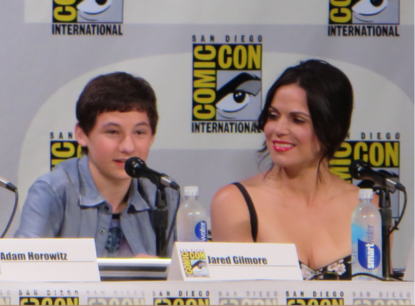 """@MouseInfo: Love how @LanaParrilla looks at Jared_Gilmore like a proud mama #OnceUponATime #OUAT #SDCC http://t.co/q9omp3nYbF"""