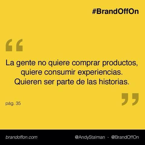 Atención #marcas: La gente recuerda 1/3 de lo que lee, 1/2 de lo que escucha y el 100% de lo que siente #BrandOffOn http://t.co/3kK3jUnkuQ