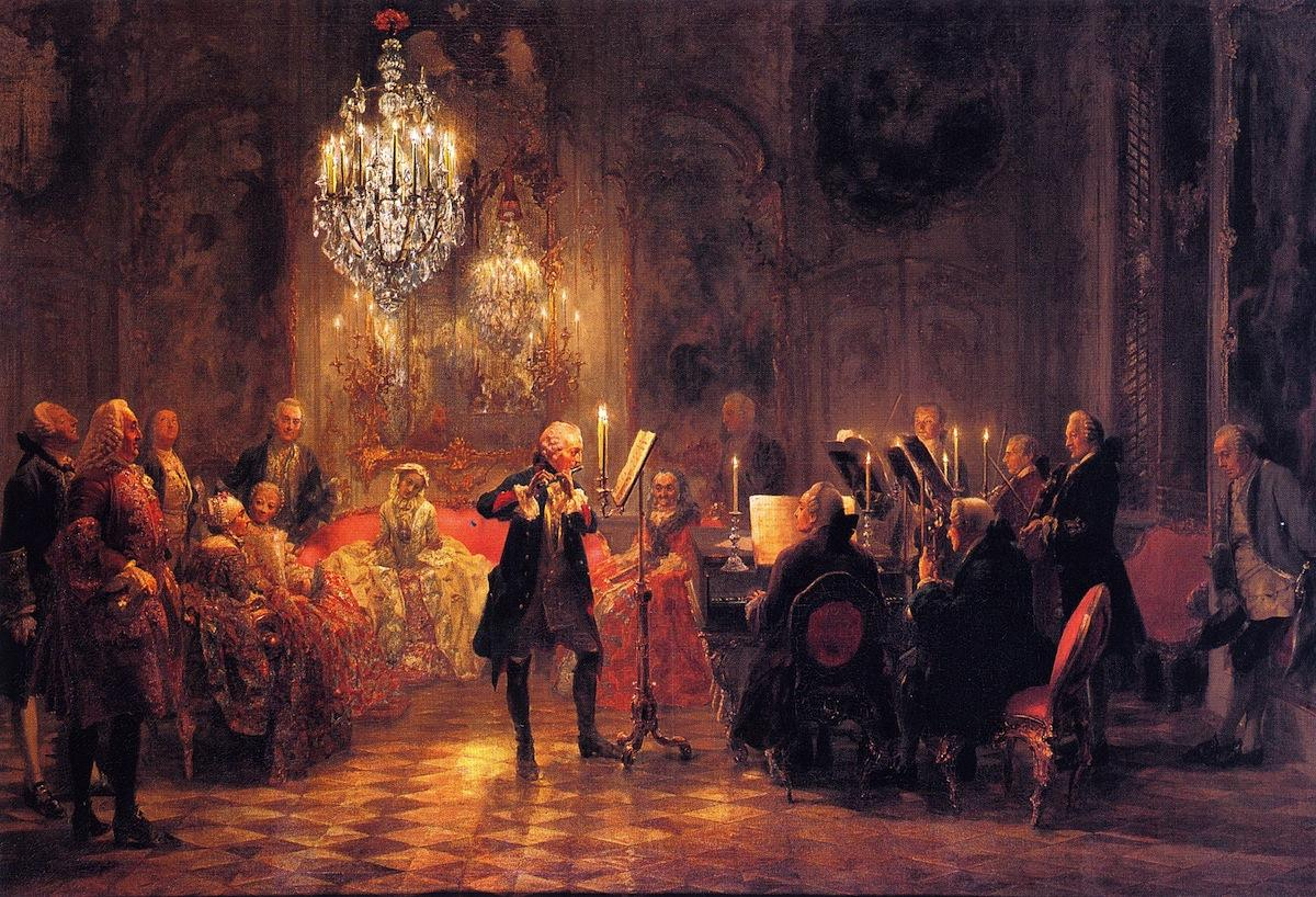 The Flute Concert of Frederick the Great at Sanssouci
