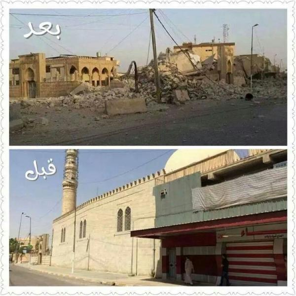 Nabi Sheet mosque (built 1647 AD) reported destroyed. #Mosul #Iraq #antiquity (c) Jane Moon @EaNasir, Twitter, 27th July 2014