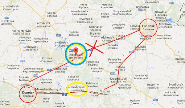 Debaltsevo in Ukraine