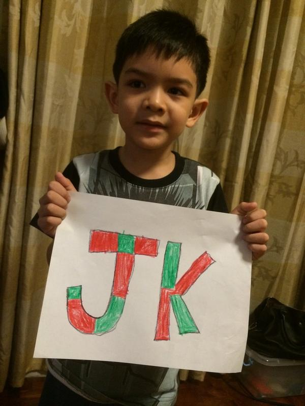 But my son wants JK to be #TheVoiceKidsChampion #letsseeanoangresulta bwahahaha http://t.co/vM5glAJIa9